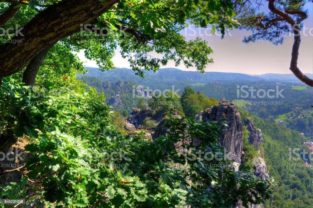 Das Elbsandsteingebirge stock photo