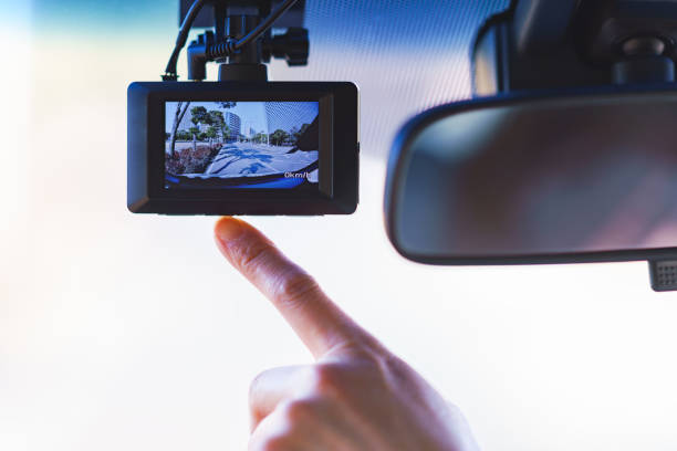 証拠を記録するためのダッシュカム - 危険物 ストックフォトと画像