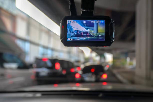 Dash-Kamera oder Auto-video-Recorder im Fahrzeug auf dem Weg – Foto