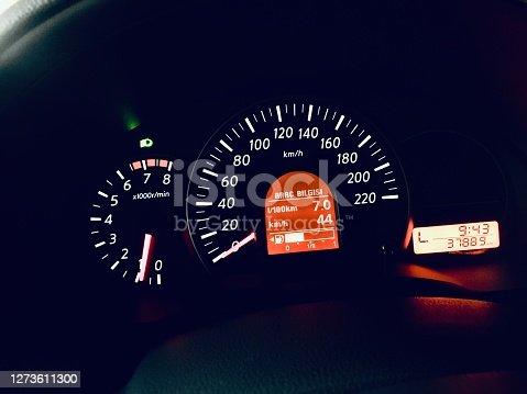 Dash of a modern Japanese car.