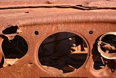 dash of abandoned volkswagen karmen ghia