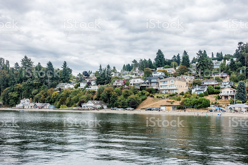 Dash Point Shoreline 2 stock photo