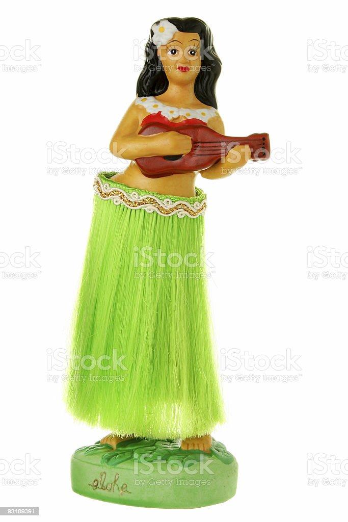 A dashboard hula girl for a car stock photo