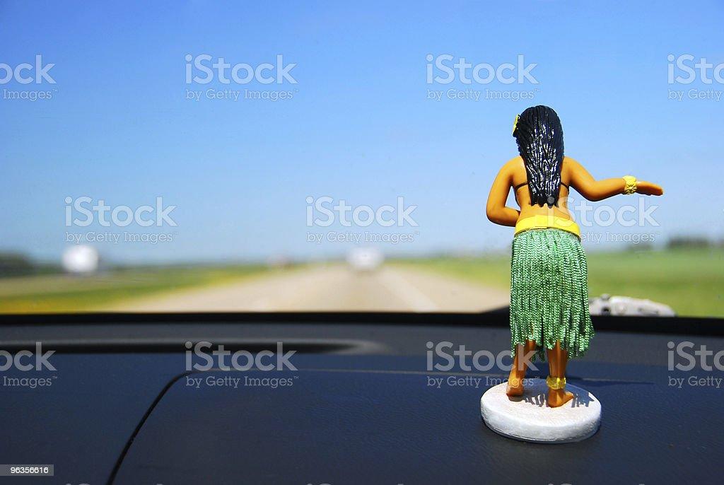 Dashboard Hula Girl stock photo
