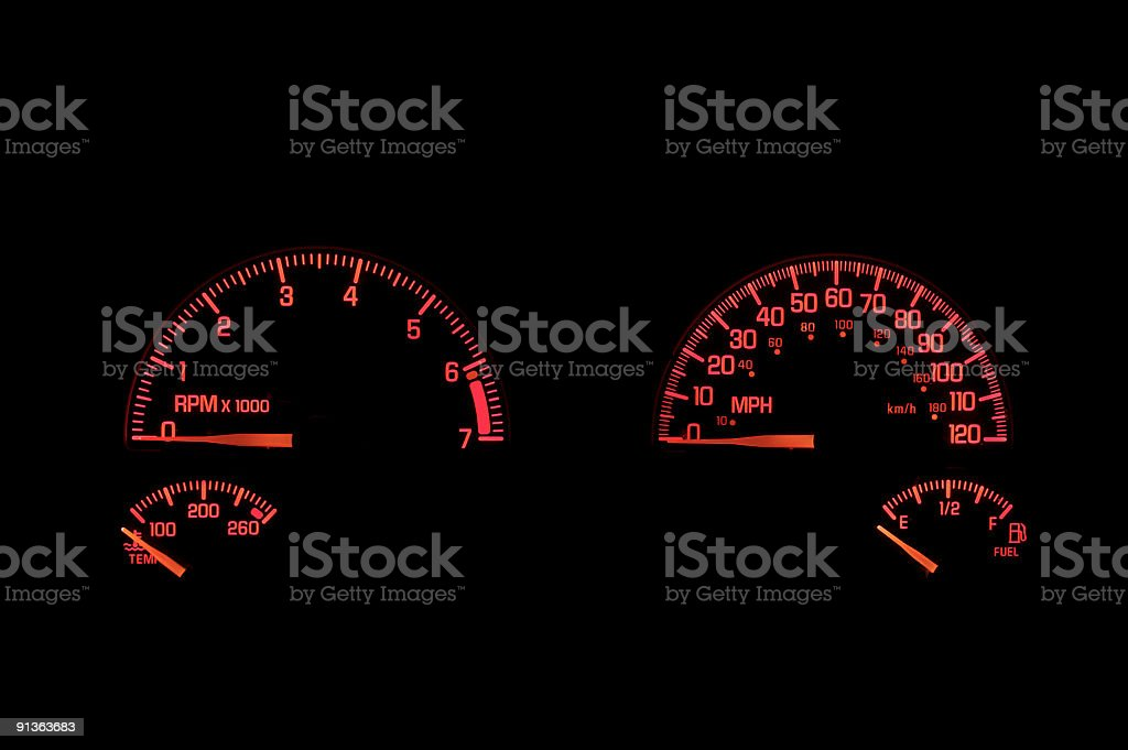 Dashboard Instrument Panel royalty-free stock photo