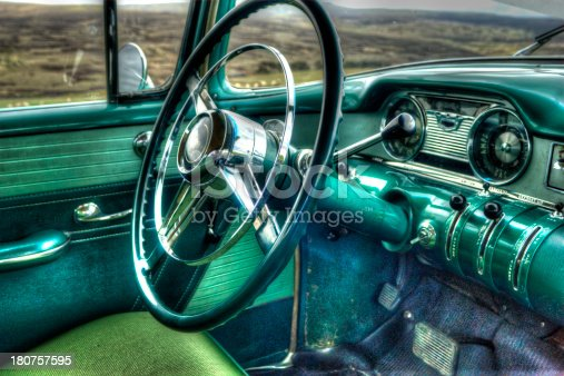 467735055istockphoto Dashboard of Classic American 60s car 180757595