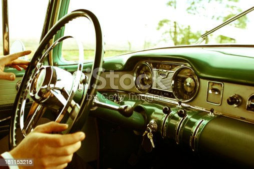 467735055istockphoto Dashboard of Classic American 60s car 181153215
