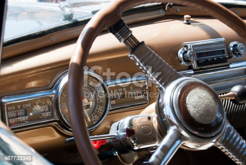 467735055istockphoto Dashboard of Classic American 60s car 467733345