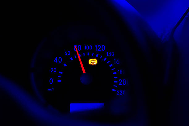 Dashboard of speed accelerating car Dashboard of speed accelerating car abdominal muscle stock pictures, royalty-free photos & images