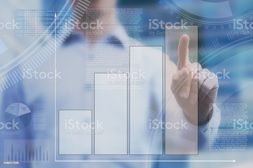 dashboard  with infographics stock photo