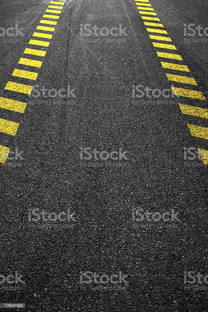 Dashed line royalty-free stock photo