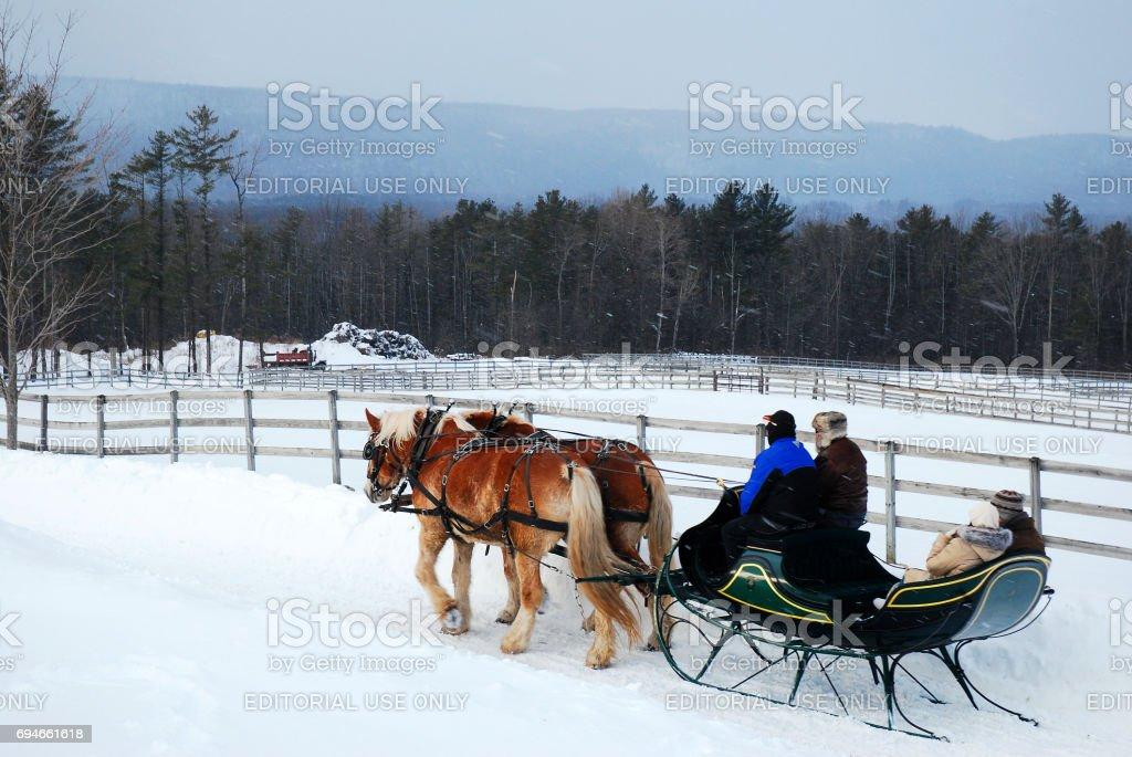 Dashing Through the Snow stock photo