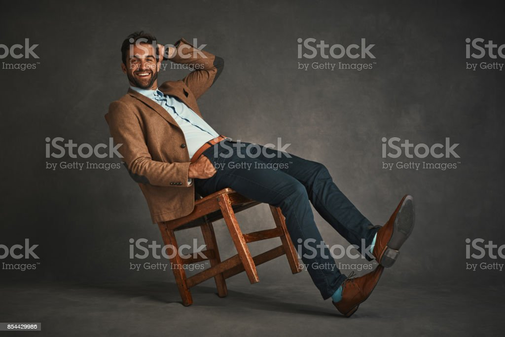 Dashingly handsome stock photo