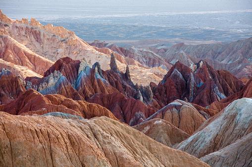 Dascht e Lut, Wüste, IranDasht-e Lut  Iran, colored mountains Unesco world heritage site