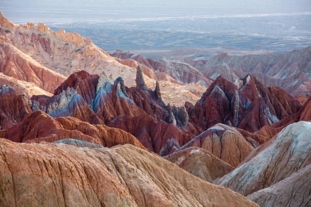 Dasht-e Lut desert Iran colored mountains Dascht e Lut, Wüste, IranDasht-e Lut  Iran, colored mountains Unesco world heritage site iran stock pictures, royalty-free photos & images