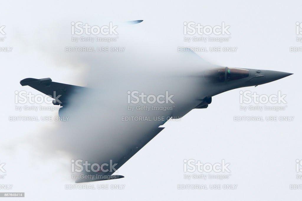 Dassault Rafale in Zhukovsky during MAKS-2013 stock photo