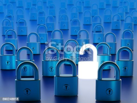 532351758 istock photo Data access by computer firewall bypassing and network security concept 590248818