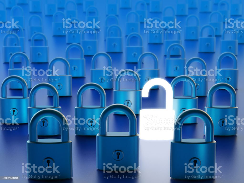 Data access by computer firewall bypassing and network security concept stock photo
