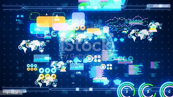 istock Data analysis concept. GUI (Graphical User Interface). 1161463812