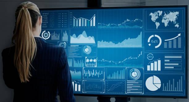 data-analyse voor business en finance concept - meetinstrument stockfoto's en -beelden