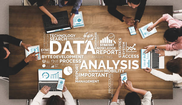 Data Analysis for Business and Finance Concept Data Analysis for Business and Finance Concept. Graphic interface showing future computer technology of profit analytic, online marketing research and information report for digital business strategy. market research stock pictures, royalty-free photos & images