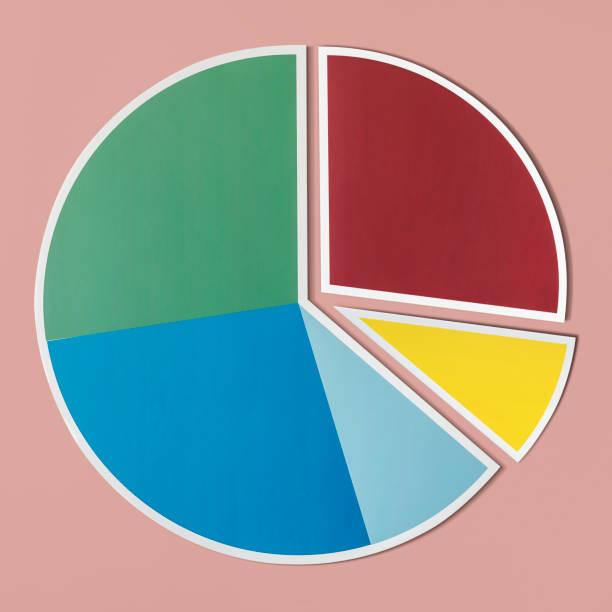 Data analysis pie chart icon stock photo