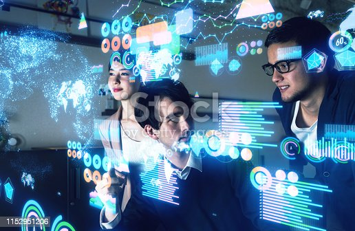1154261912 istock photo Data analytics concept. Financial technology. Finance. 1152951206