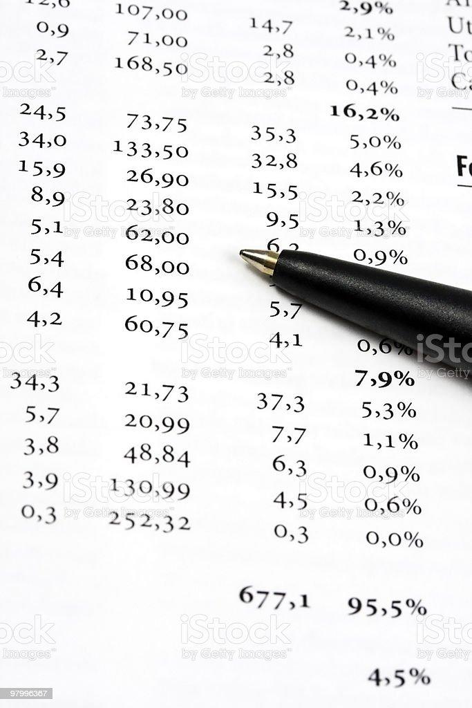 data analyzing royalty-free stock photo