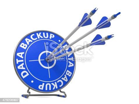istock Data Backup Concept - Hit Target. 479205907