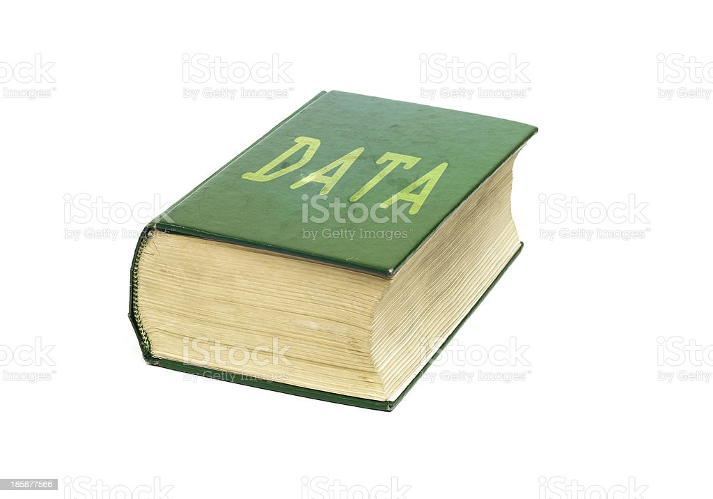 Data Book royalty-free stock photo