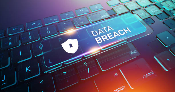 Data Breach Button on Computer Keyboard Data Breach Button on Computer Keyboard computer crime stock pictures, royalty-free photos & images