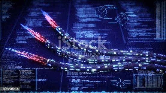istock Data Cable Nanotechnology 696235400