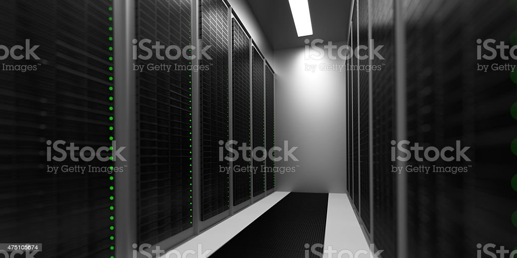 Data Center Aisle stock photo