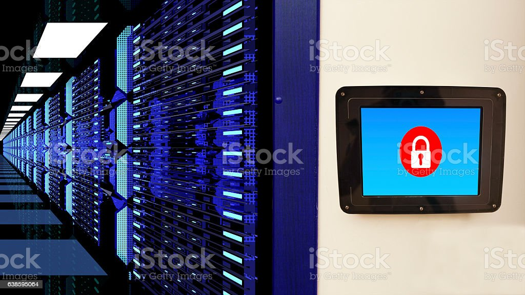Data Center and Data protection stock photo