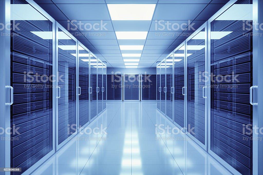 Data Center Interior stock photo