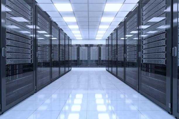 data center-interieur - datacenter stockfoto's en -beelden