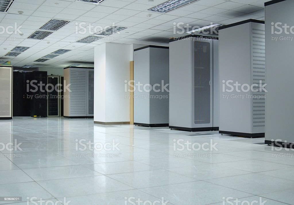Data Center Interior  Air Conditioner Stock Photo