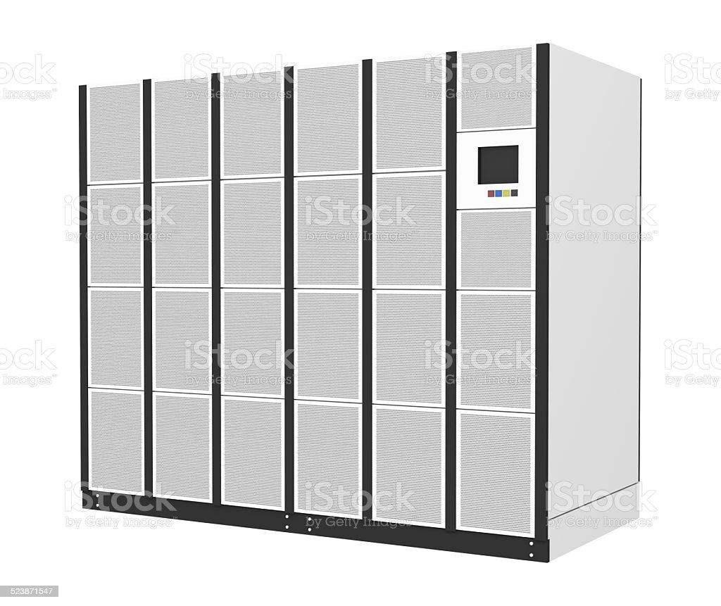 Data Center Power Supply isolated on white background stock photo