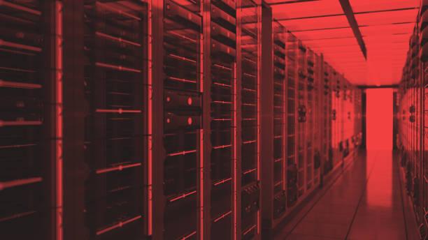 Rechenzentrum rote Lichter Warnung – Foto