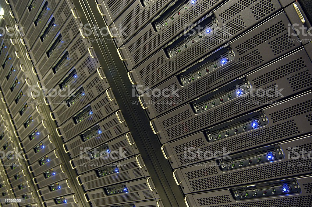 Data Center: Server Farm royalty-free stock photo