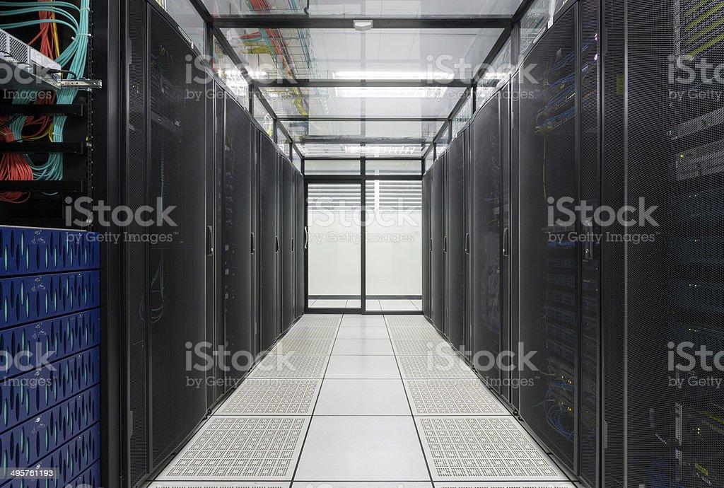 Data Center, Server room for business. stock photo