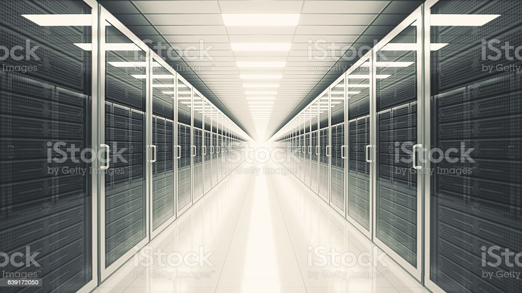 Data Center Server Room stock photo