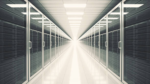Data Center Server Room stock photo