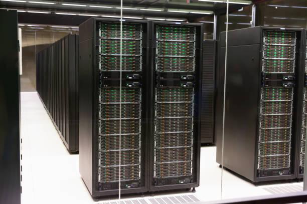 Centro de dados servidores - foto de acervo