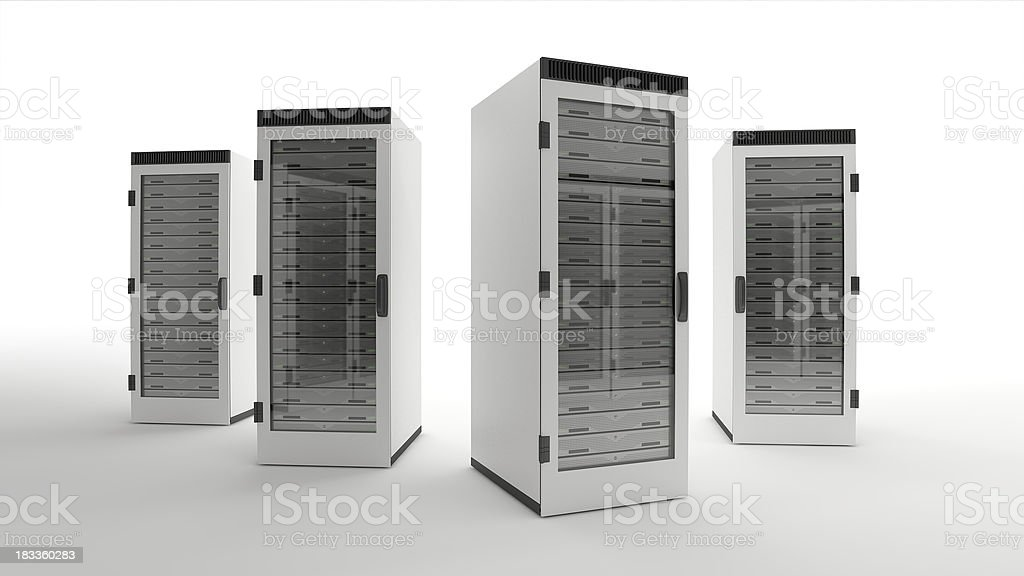 Data center servers royalty-free stock photo