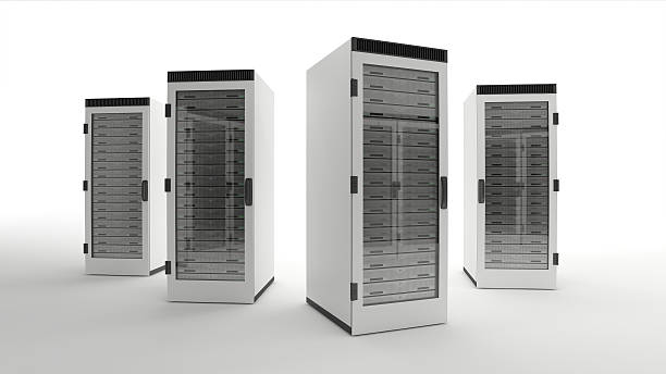 Data center servers stock photo