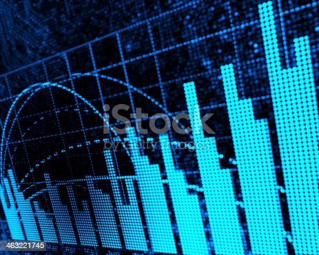 istock A data chart with bars and grids 463221745