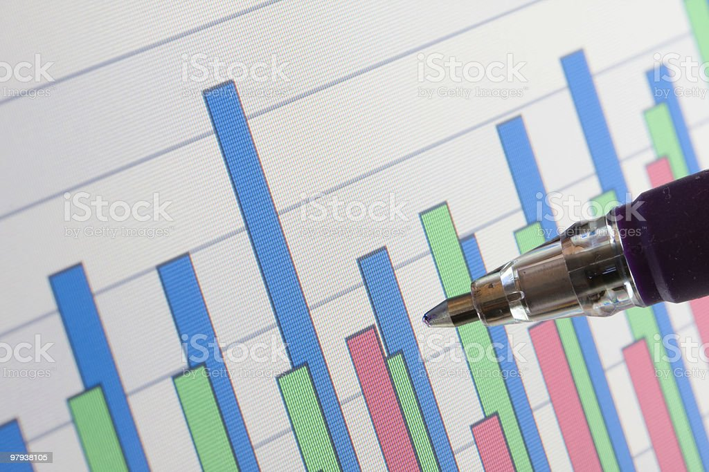 Data charts background royalty-free stock photo