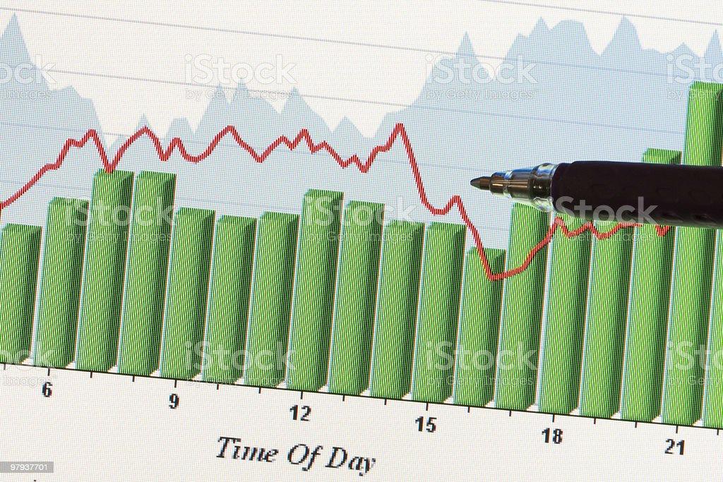 Data charts royalty-free stock photo
