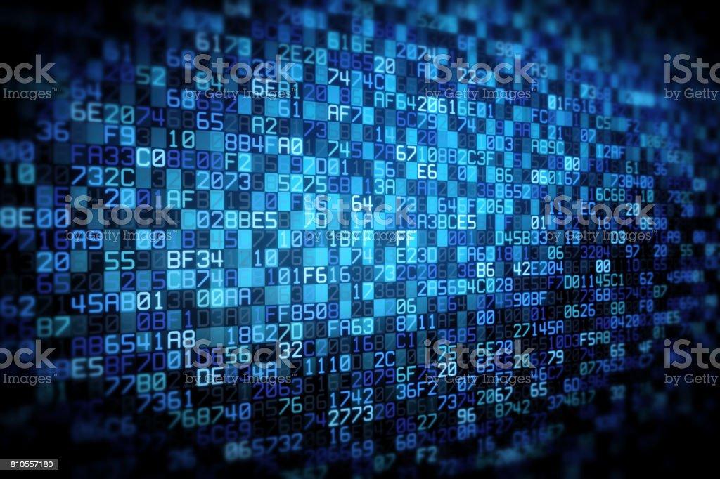 Data Cloud Encoding Vignette stock photo